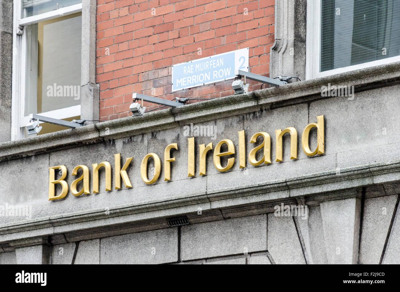 Bank of Ireland branch in Dublin, Ireland - Stock Image