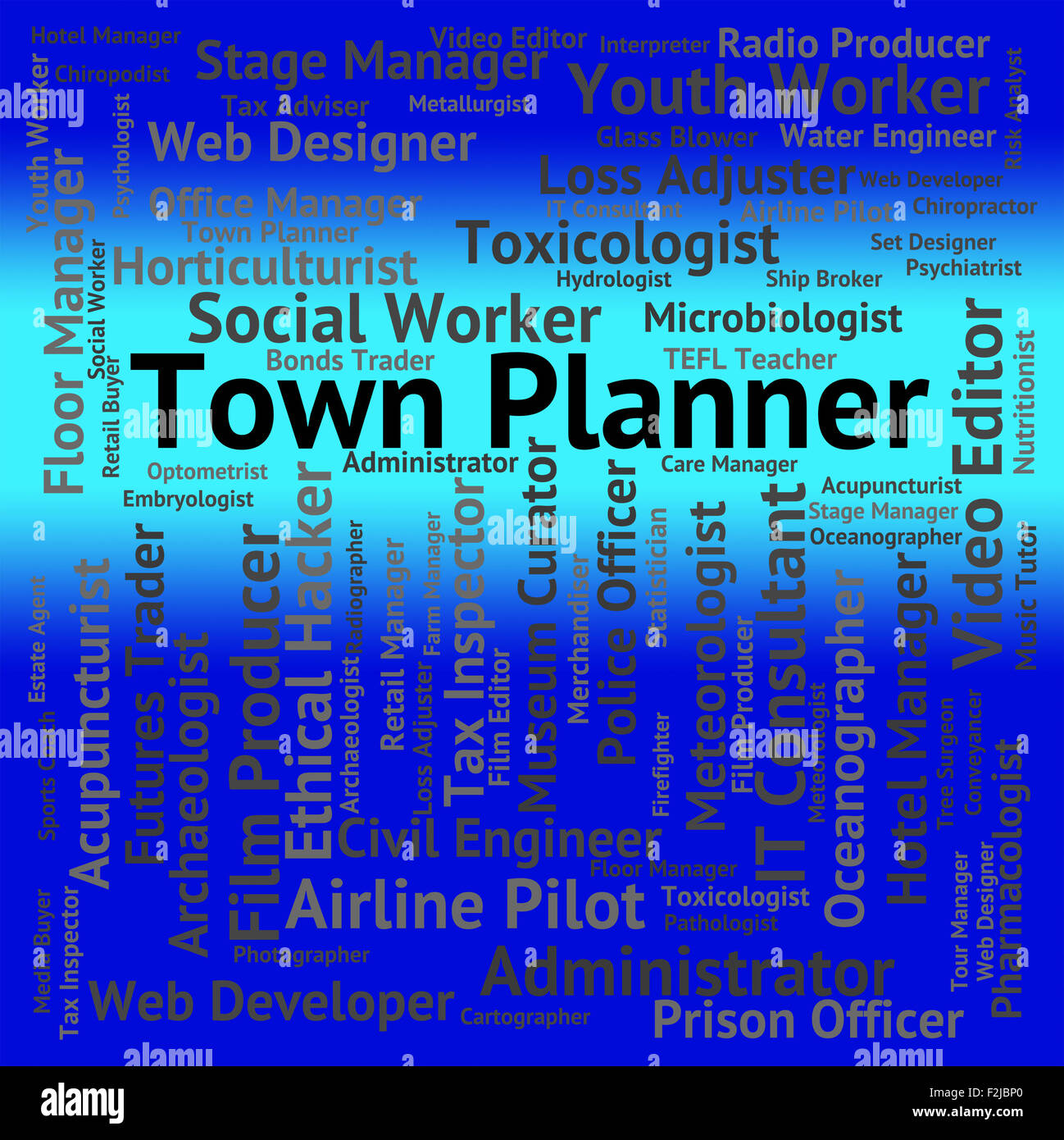 Town Planner Meaning Job Word High Resolution Stock Photography And Images Alamy