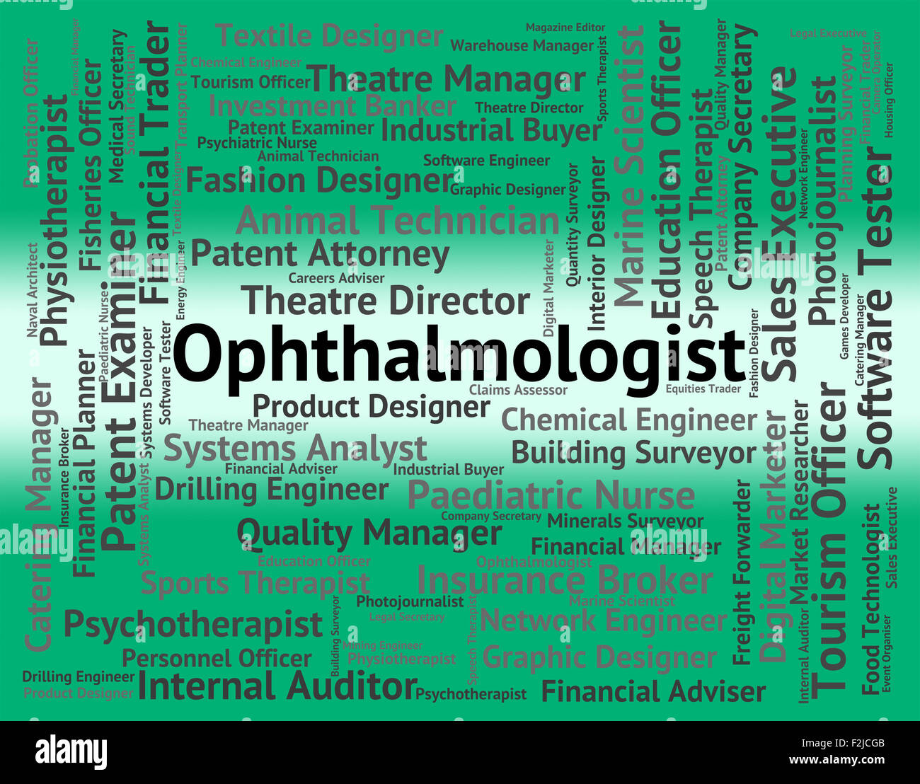 Ophthalmologist Job Meaning Occupation Doctor High Resolution Stock Photography And Images Alamy