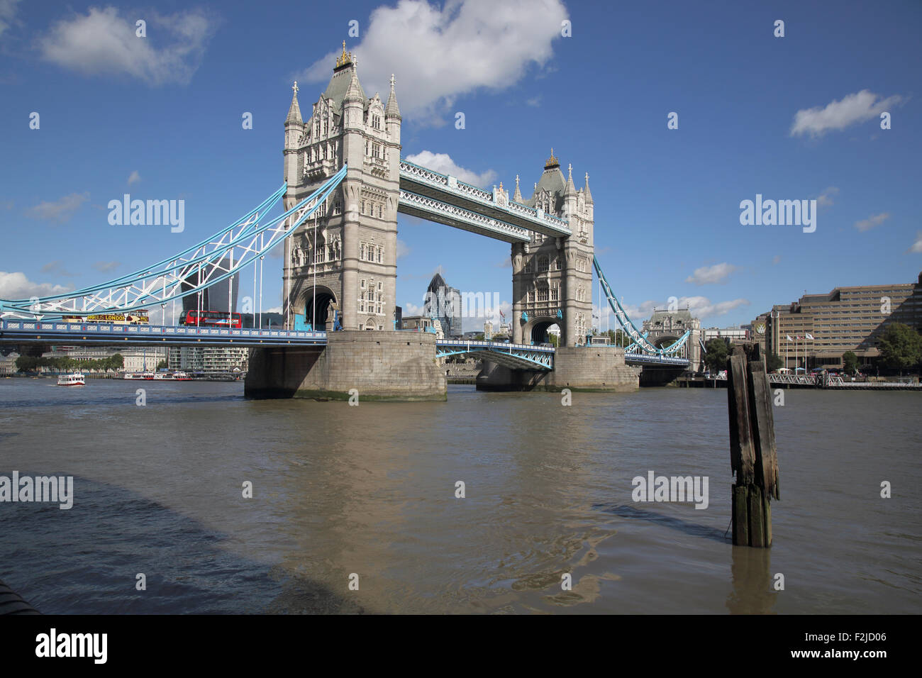 tower bridge crossing the river thames in  london england - Stock Image