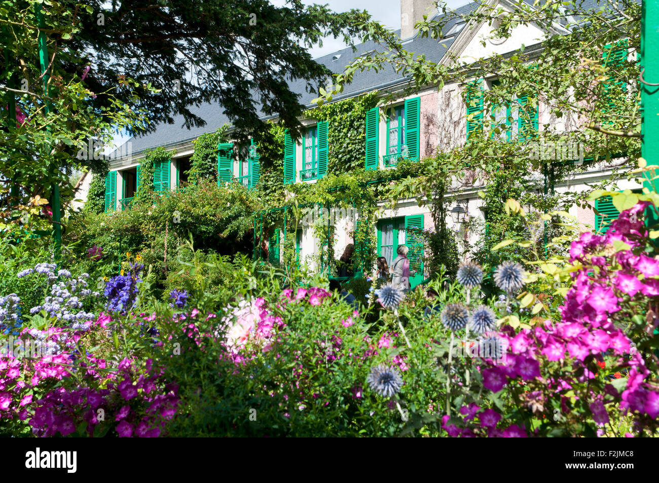 Claude Monet garden giverny departement eure france europe Stock Photo