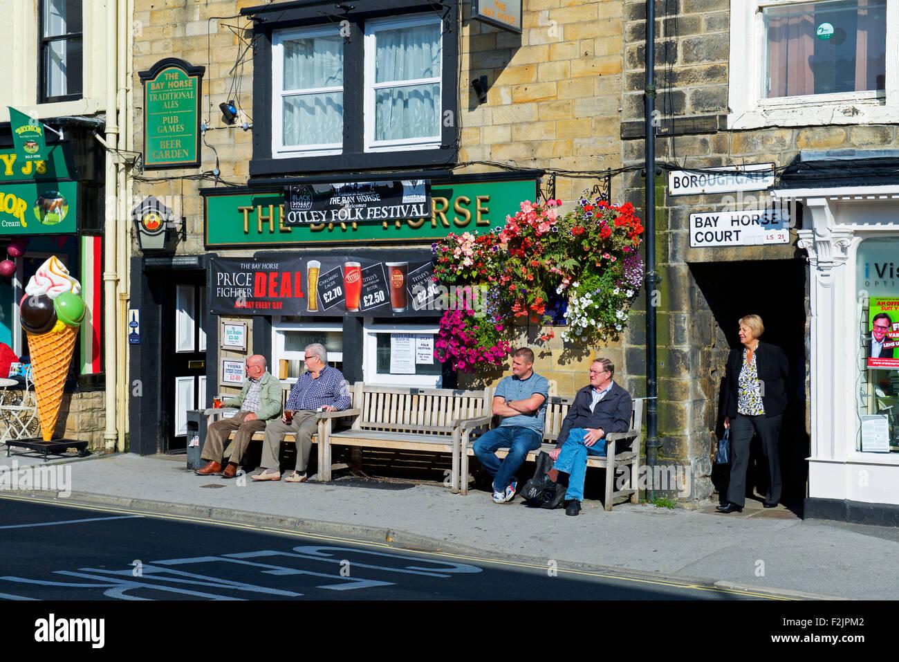 The Bay Horse Pub, Otley, West Yorkshire, England UK - Stock Image