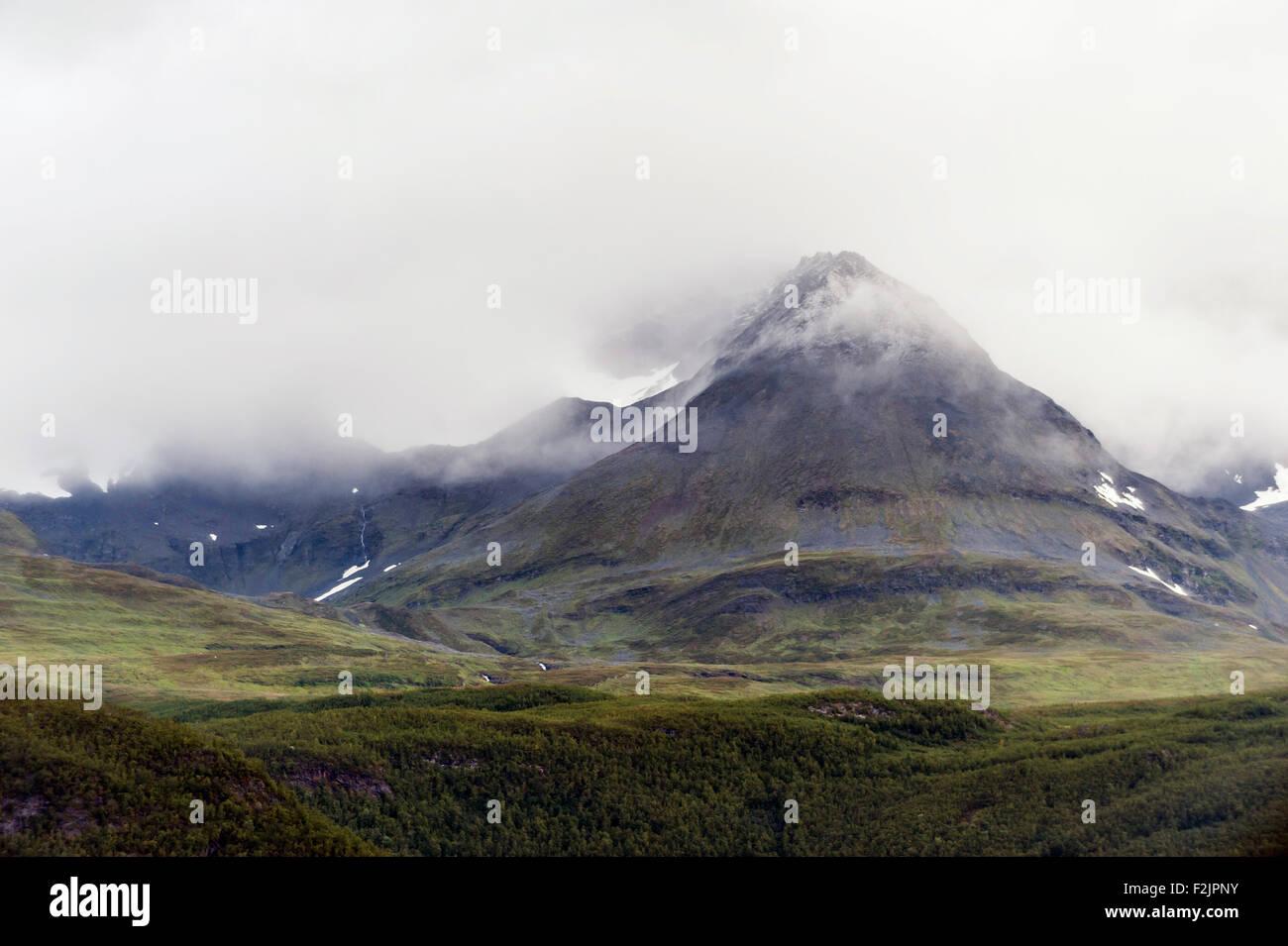 Norwegian fjeld - Stock Image