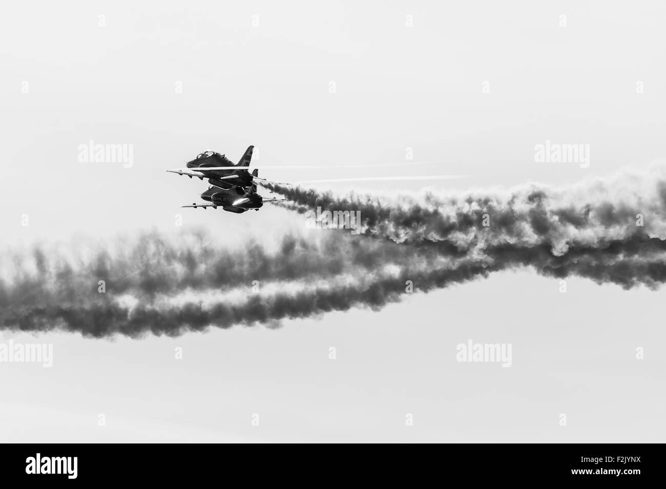 Gypo pass at Southport airshow in monochrome. - Stock Image