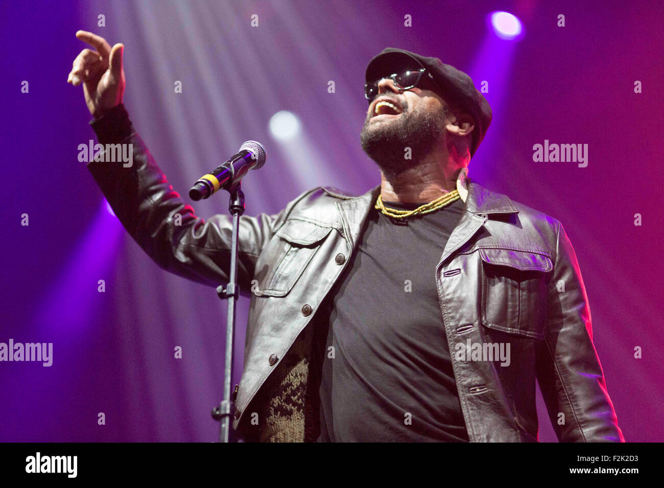19/9/15 With Love From Liverpool Concert. Garry Christian lead singer of The Christians - Stock Image