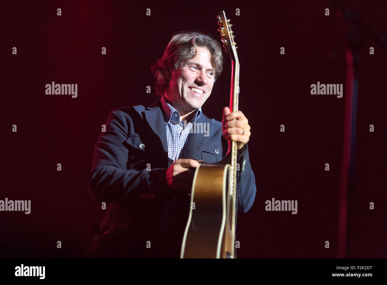 19/9/15 With Love From Liverpool Concert Comedian John Bishop - Stock Image