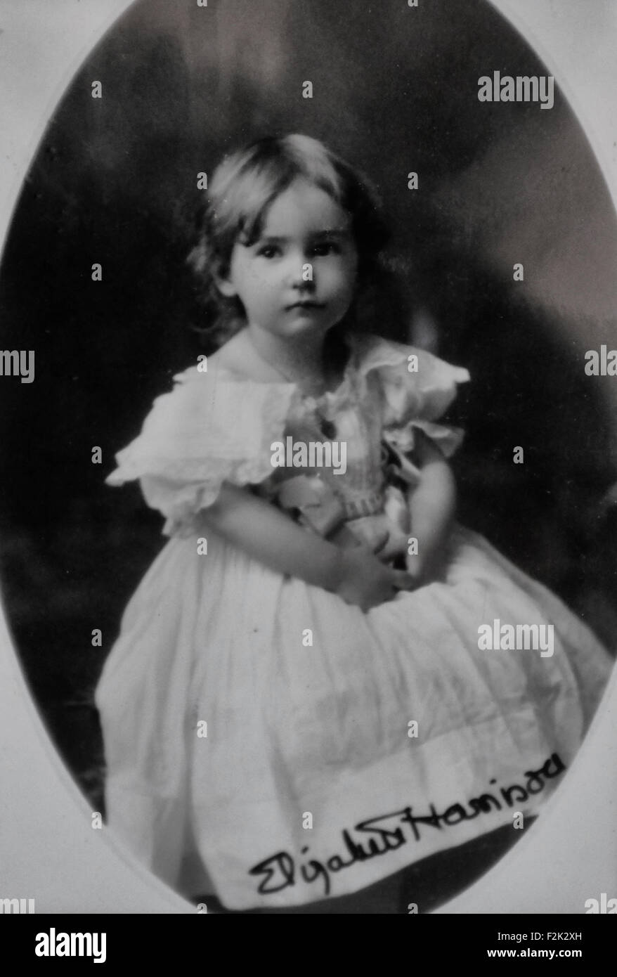 Elizabeth Harrison - daughter of former President Benjamin Harrison and Mary Scott Lord Harrison, circa 1900 Stock Photo