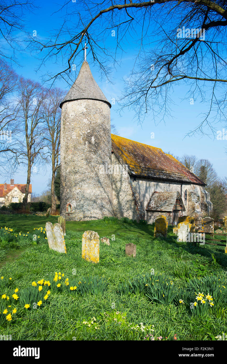 The Church of St Peter in the hamlet of Southease on a