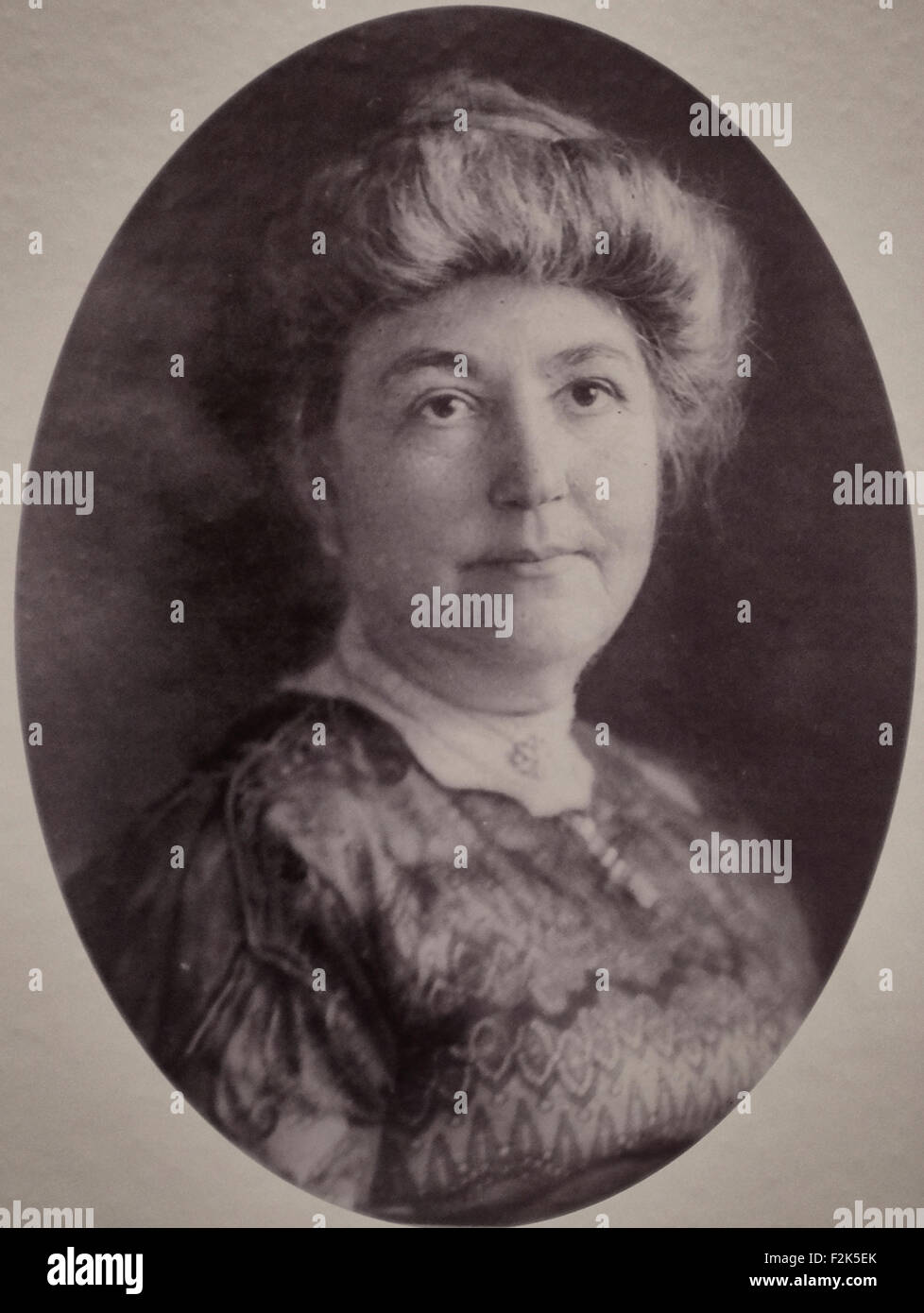 Ellen Louise Axson Wilson, first wife of Woodrow Wilson, was First Lady of the United States from 1913 until her - Stock Image