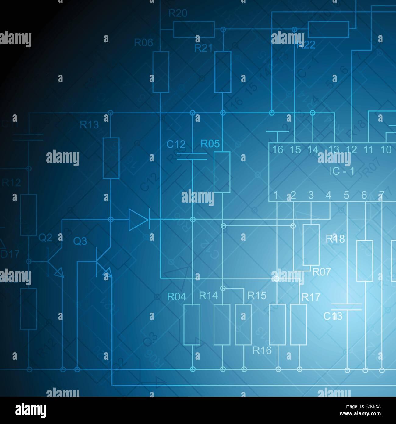 Abstract electrical scheme tech background. Vector design Stock ...