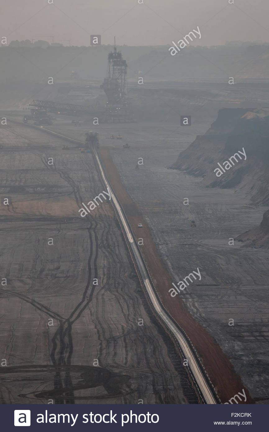 brown coal surface mine Stock Photo
