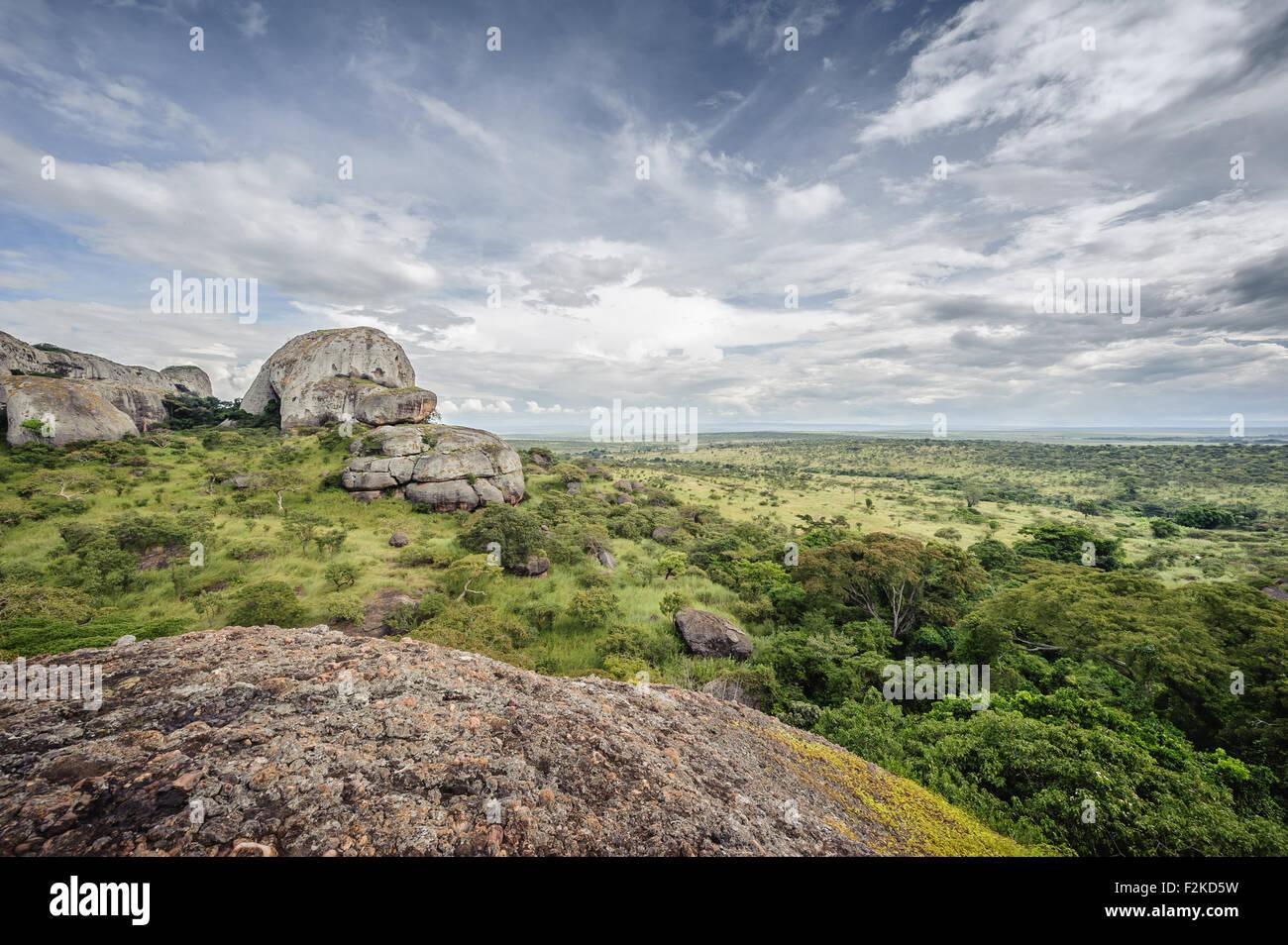 As emblemáticas Pedras Negras de Pungo Andongo na província de Malange em Angola Stock Photo