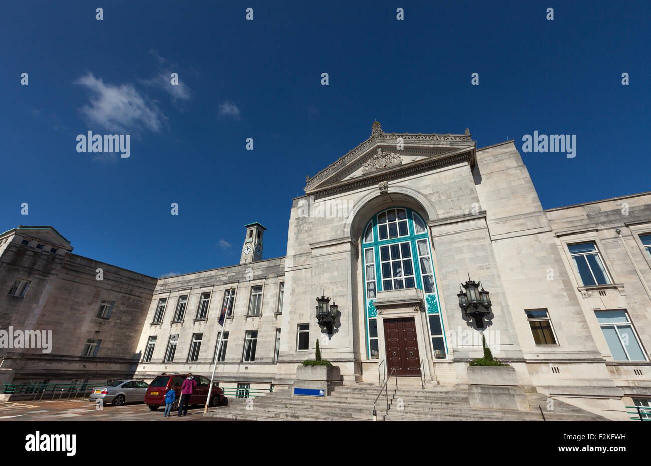 Southampton Civic Centre offices for Southampton City Council, Hampshire, UK - Stock Image