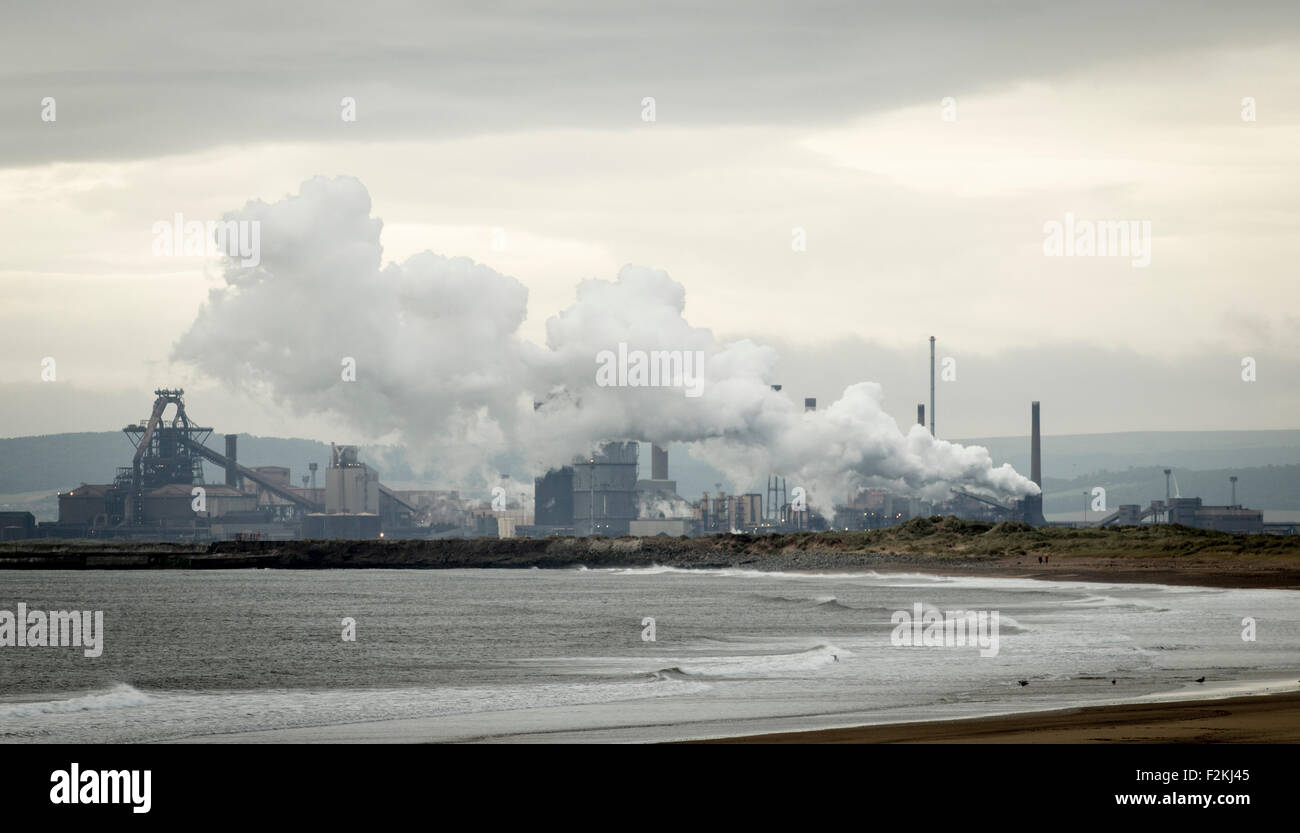 Redcar SSI steelworks blast furnace and coke ovens. Redcar, north east England - Stock Image
