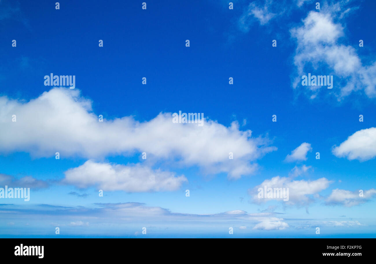 clound over ocean natural empty background - Stock Image