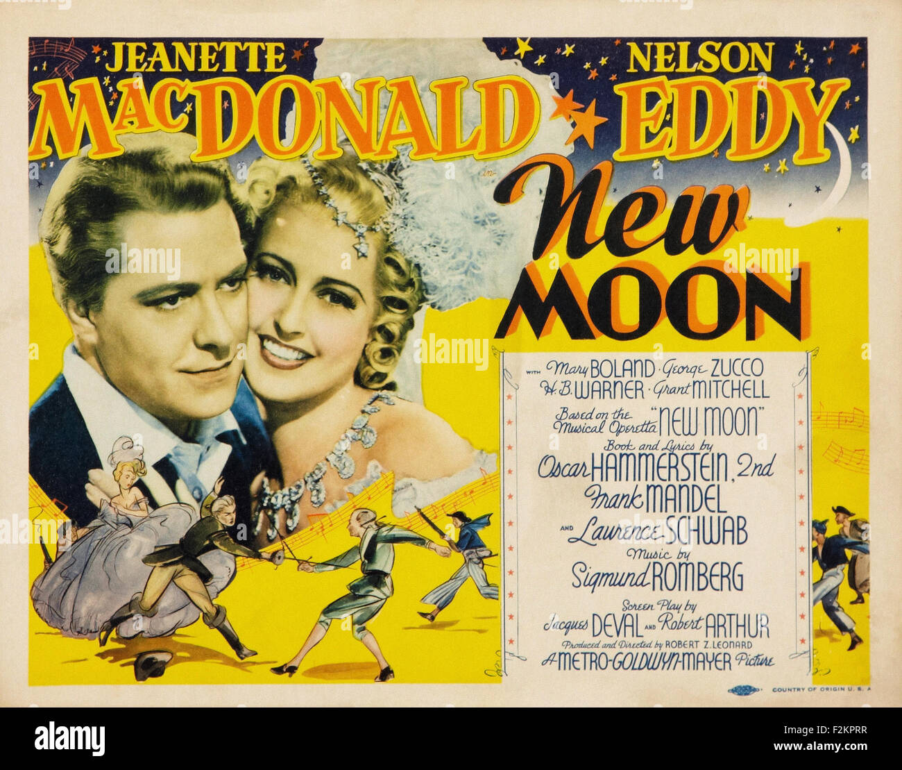 New Moon (1940) - Movie Poster - Stock Image