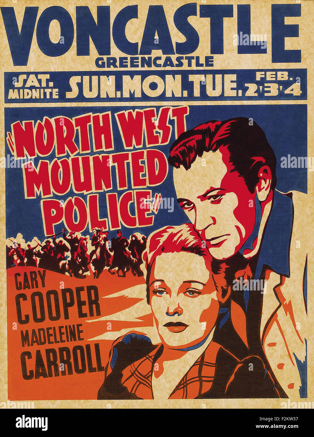 North West Mounted Police - Movie Poster - Stock Image