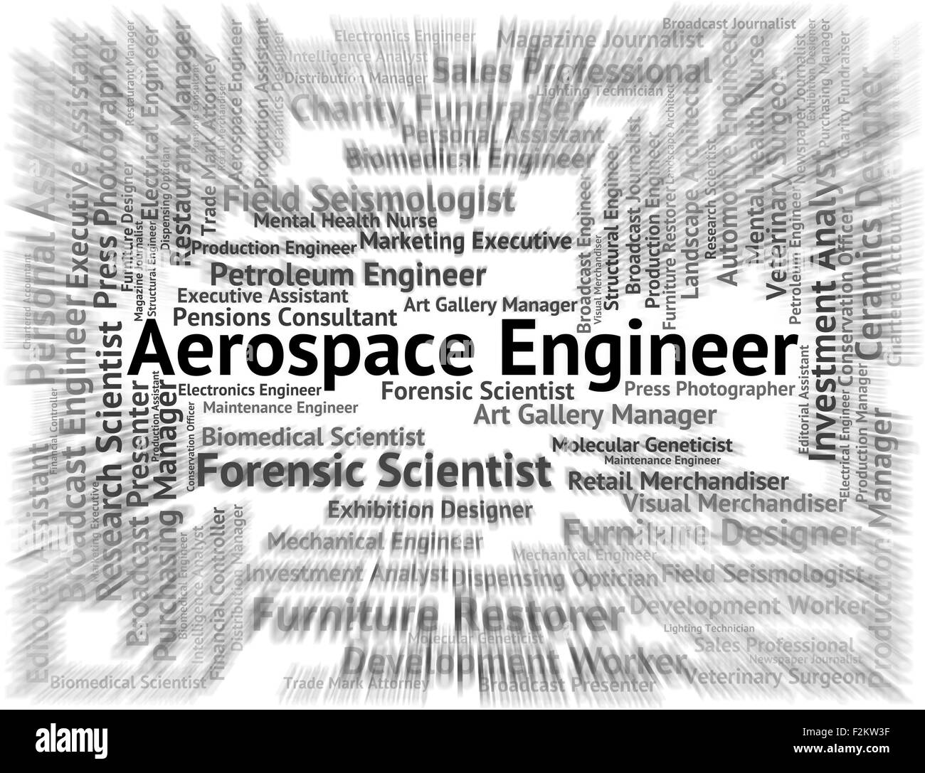 Aerospace Engineer Showing Aeronautics Recruitment And Aeronautical - Stock Image