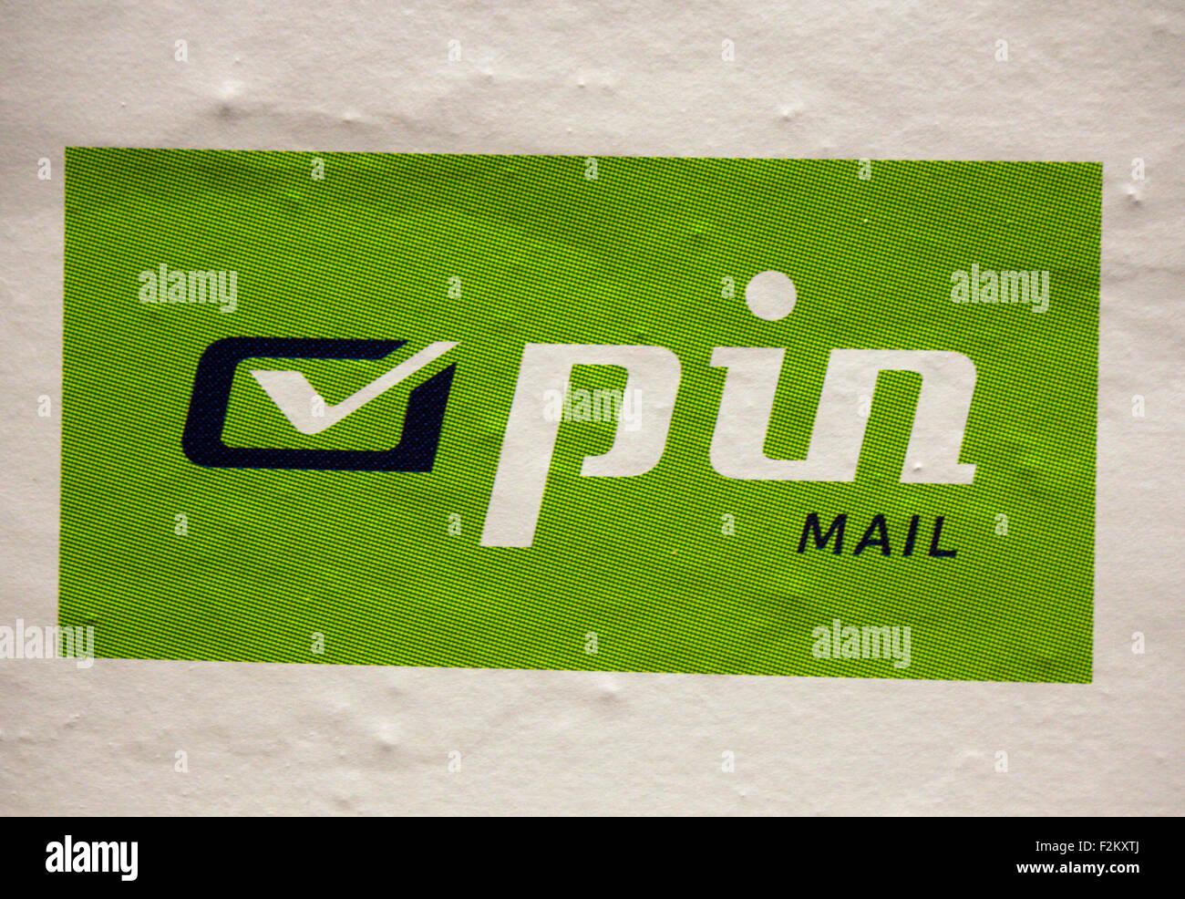 "Markenname: ""Pin AG"", Berlin. Stock Photo"
