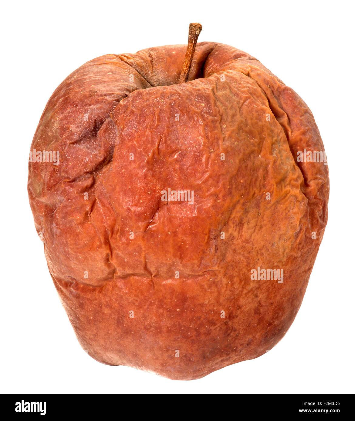 Wrinkled apple(+clipping path) - Stock Image
