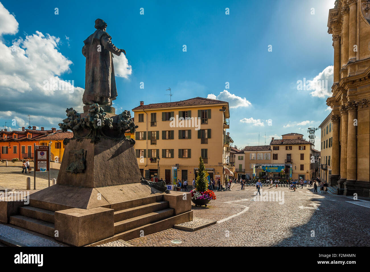 Italy Piedmont Bra Piazza Caduti della Libertà - Stock Image
