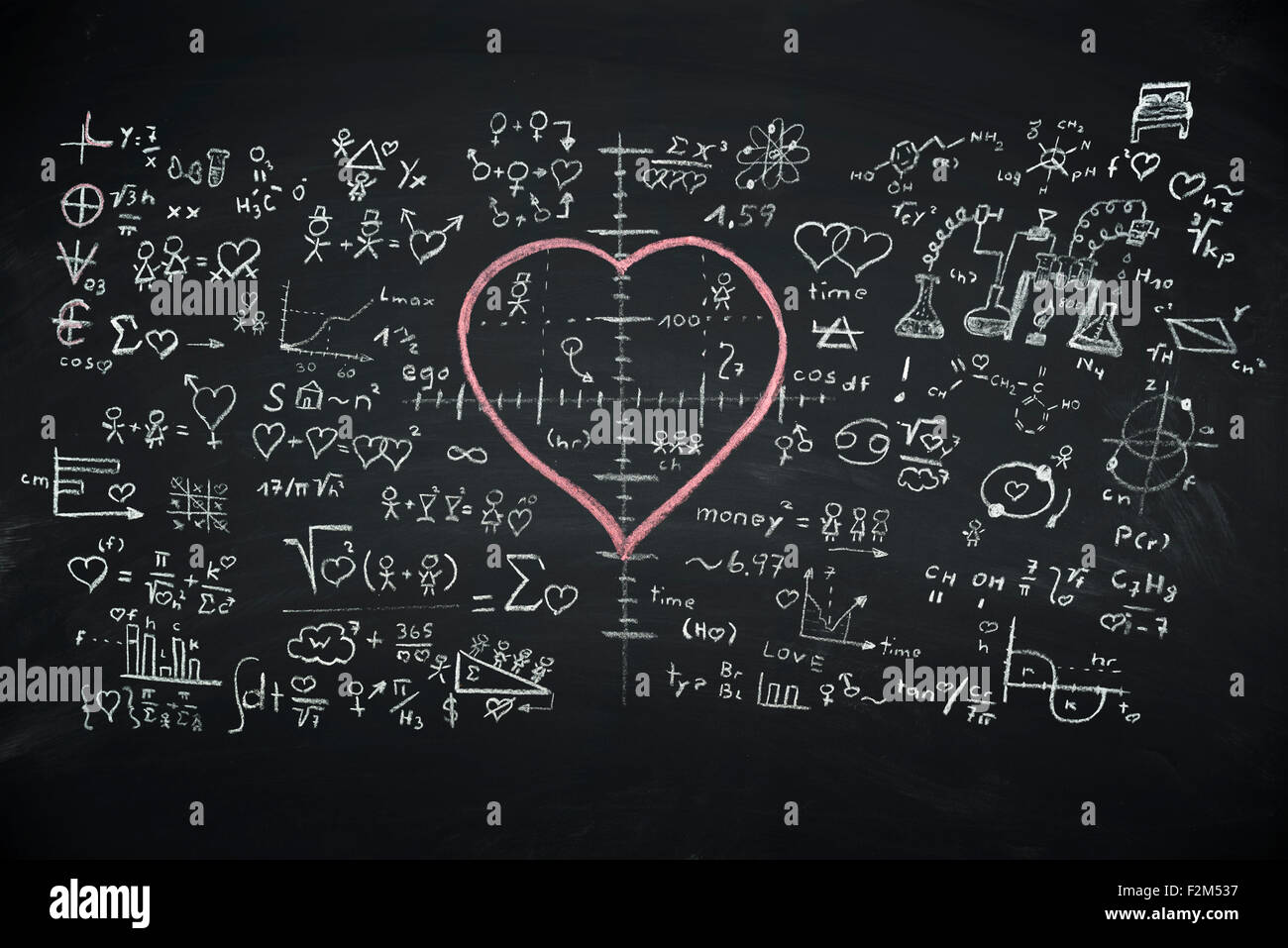 Formula of Love - Stock Image