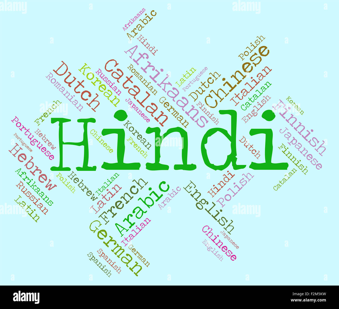 Hindi language meaning languages words and india stock photo hindi language meaning languages words and india ccuart Image collections