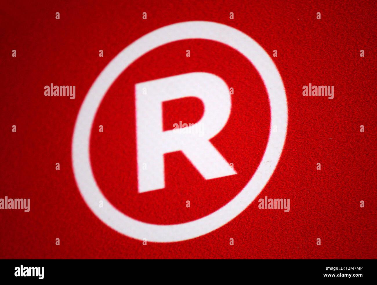 'Registered Trademark' Zeichen, Berlin. - Stock Image