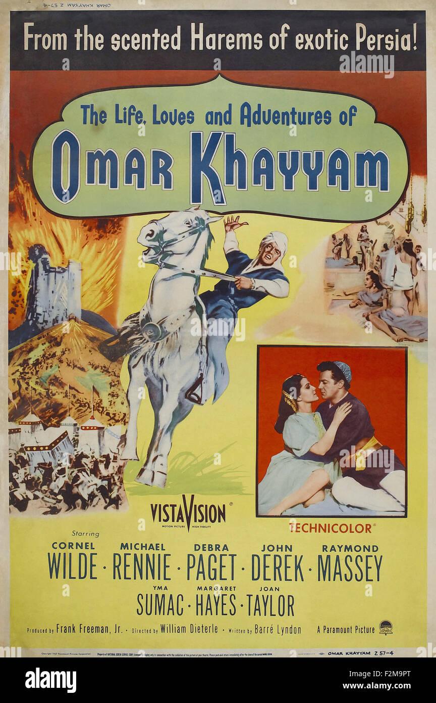 Omar Khayyam - Movie Poster - Stock Image