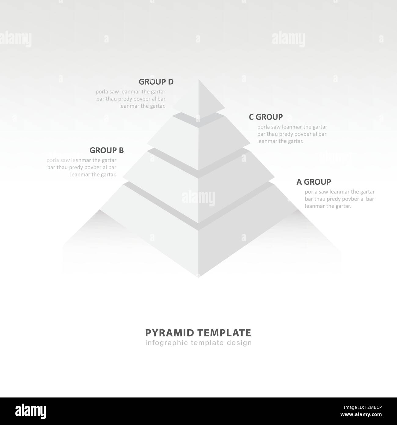 pyramid infographic template white color balance Stock Vector Art ...
