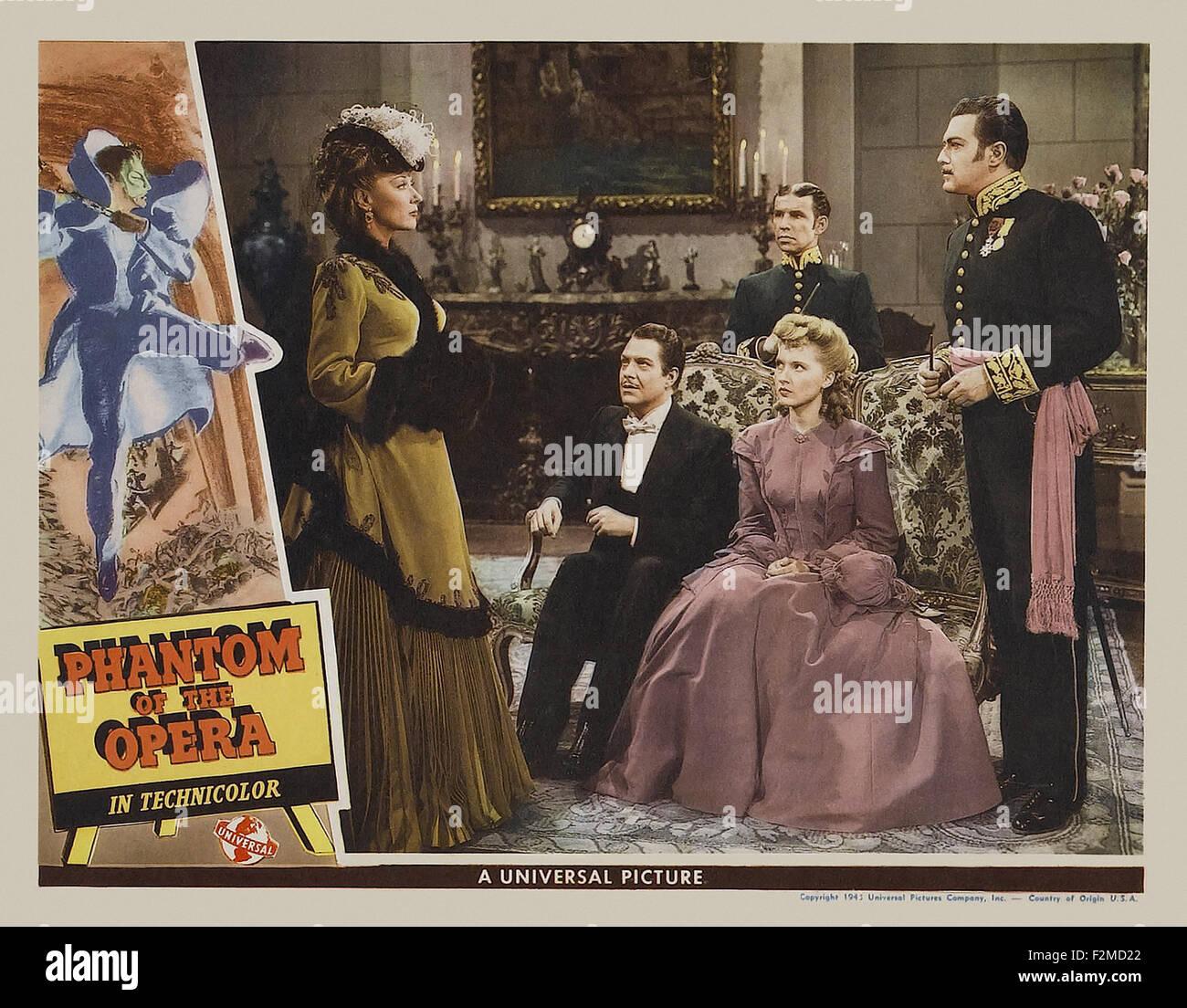 Phantom of the Opera (1943) - Movie Poster - Stock Image