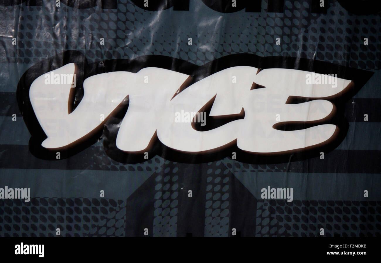 Markenname: 'Vice', Berlin. - Stock Image