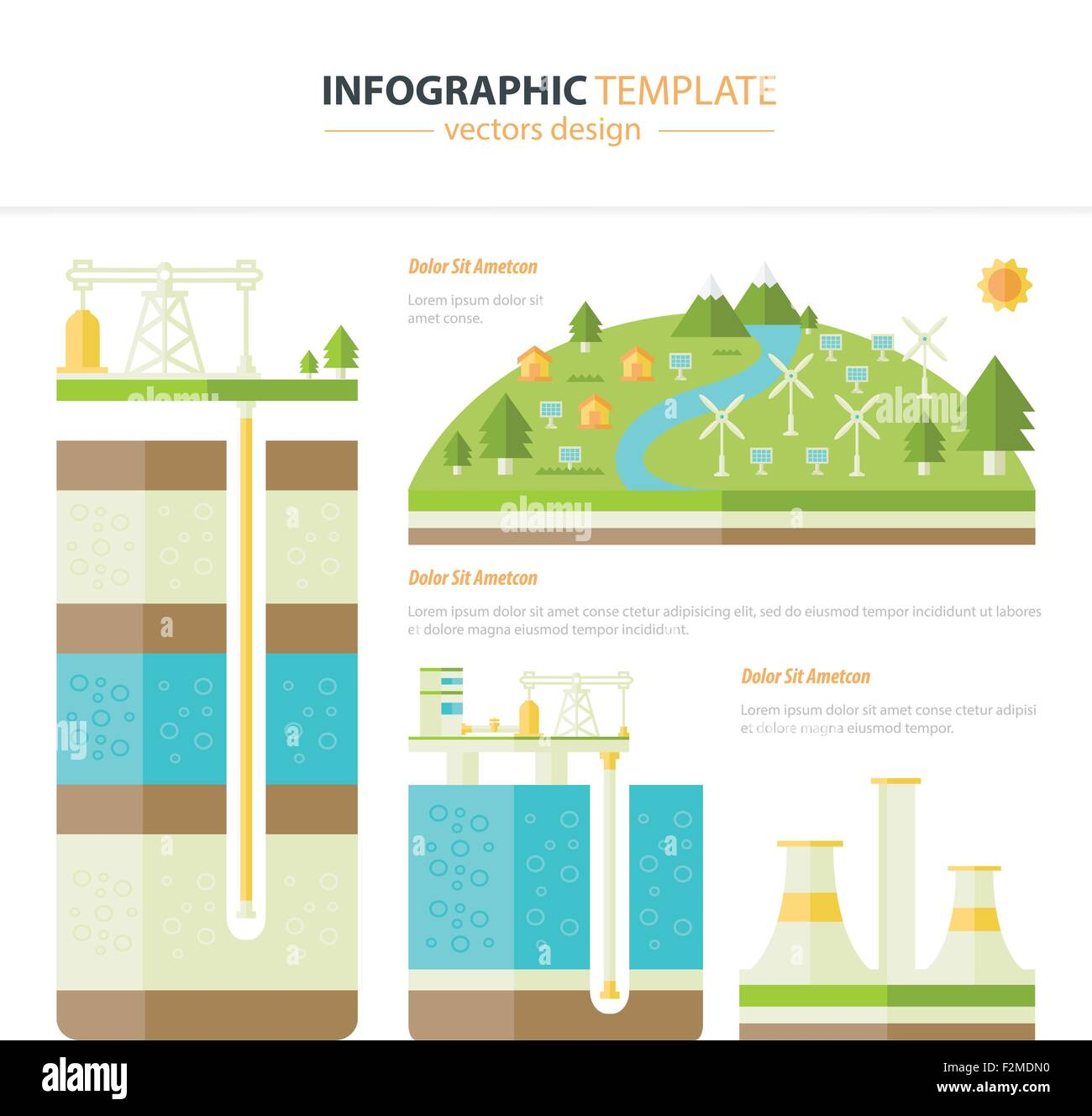 energy infographic - Stock Image