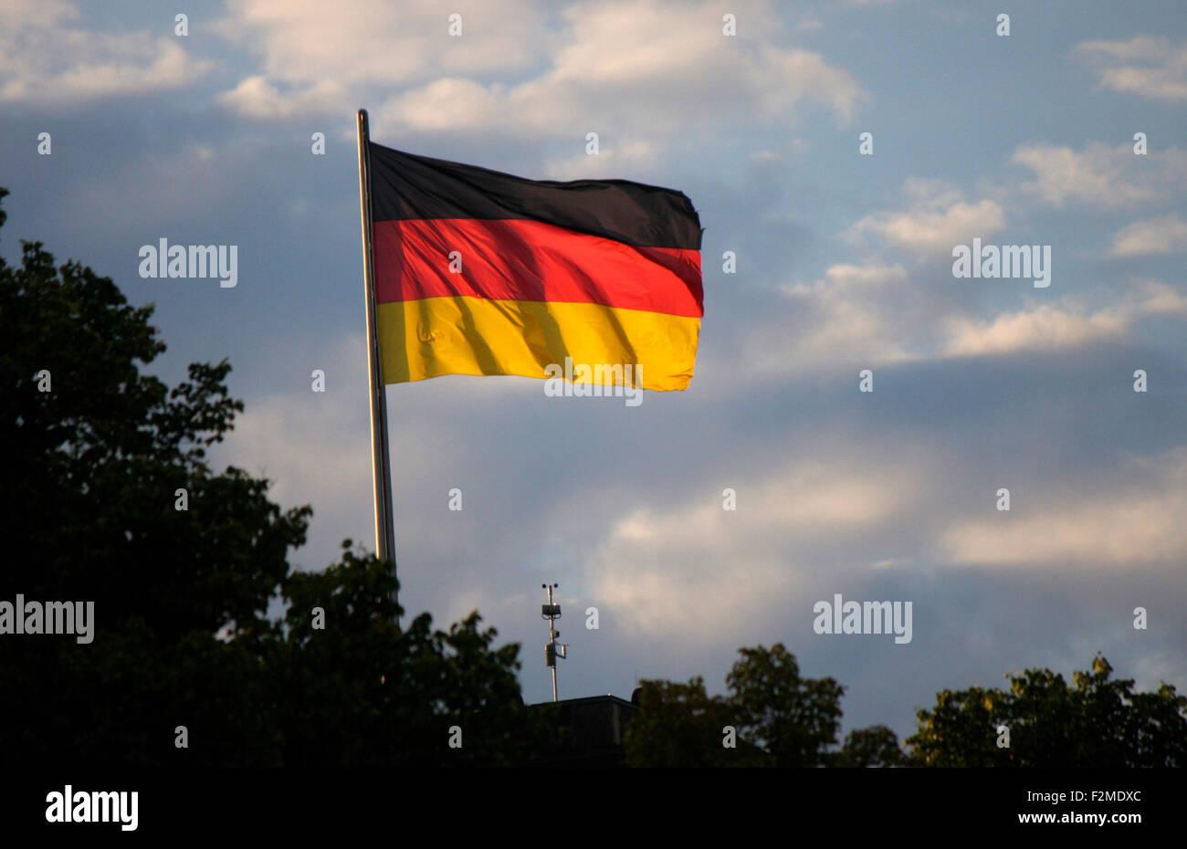 Deutschlandfahne Berlin Stock Photo Alamy