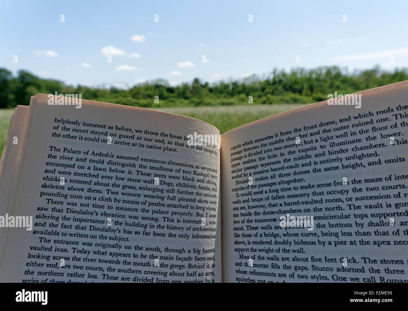 open book outdoors - Stock Image