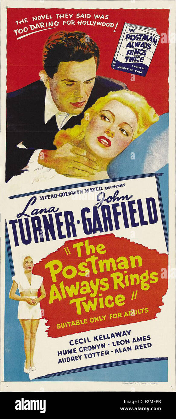 Postman Always Rings Twice The Movie Poster Stock Photo Alamy