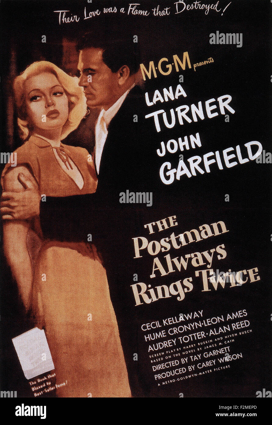 Postman Always Rings Twice, The  - Movie Poster - Stock Image