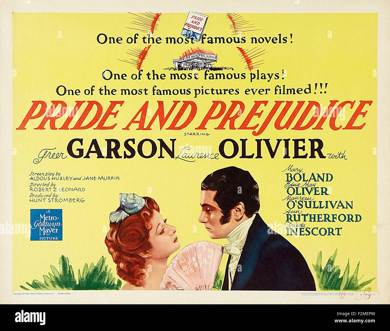 PRIDE AND PREJUDICE MOVIE POSTER Laurence Olivier 1