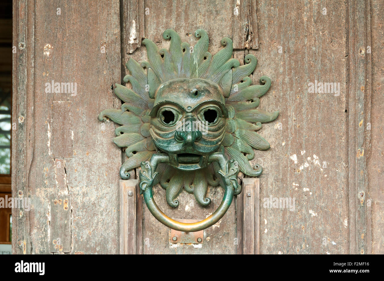 The Sanctuary Knocker on the northern door of Durham Cathedral Durham England UK. This is replica of the original knocker. & The Sanctuary Knocker on the northern door of Durham Cathedral Stock ...