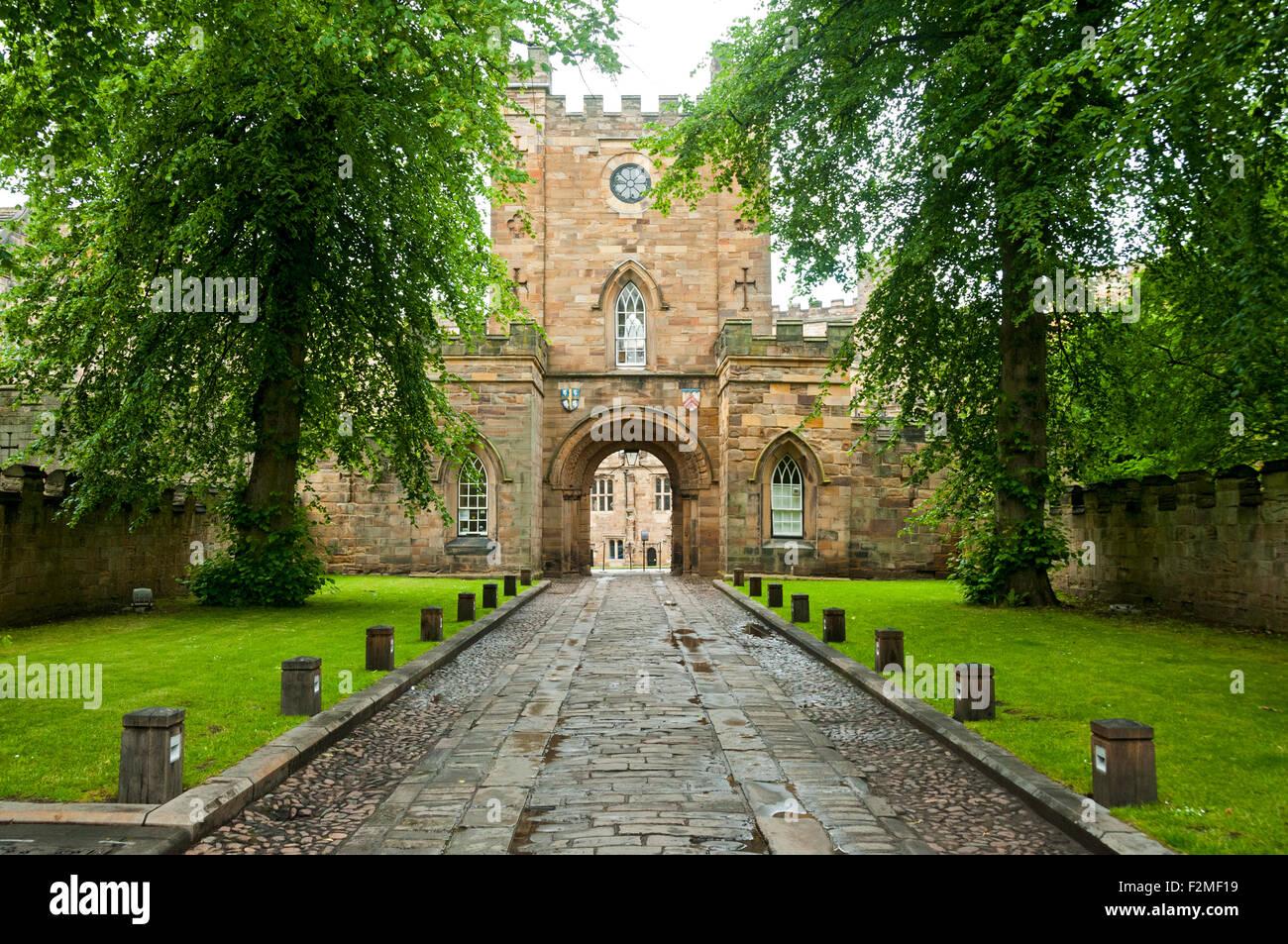 The Gatehouse of University College, Durham Castle, Durham, England, UK - Stock Image