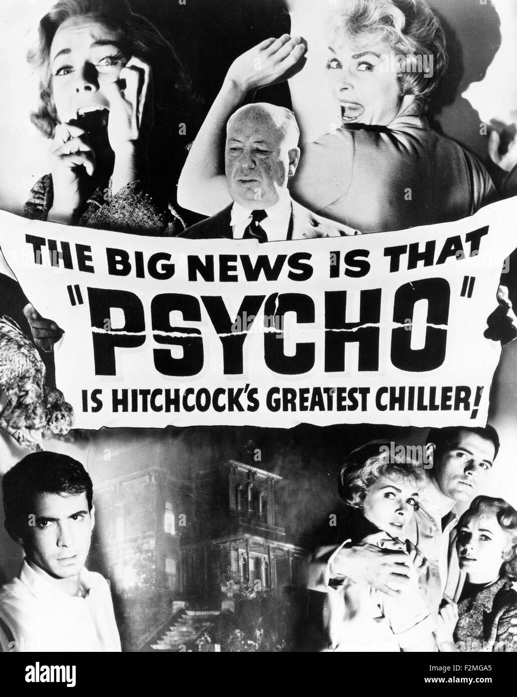 Psycho movie poster stock image