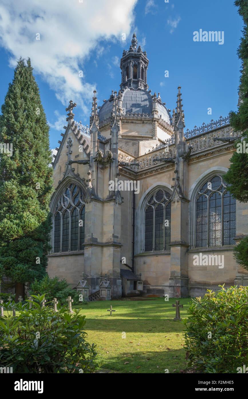 Saint Michael's Abbey, Farnborough, Hampshire -2 - Stock Image