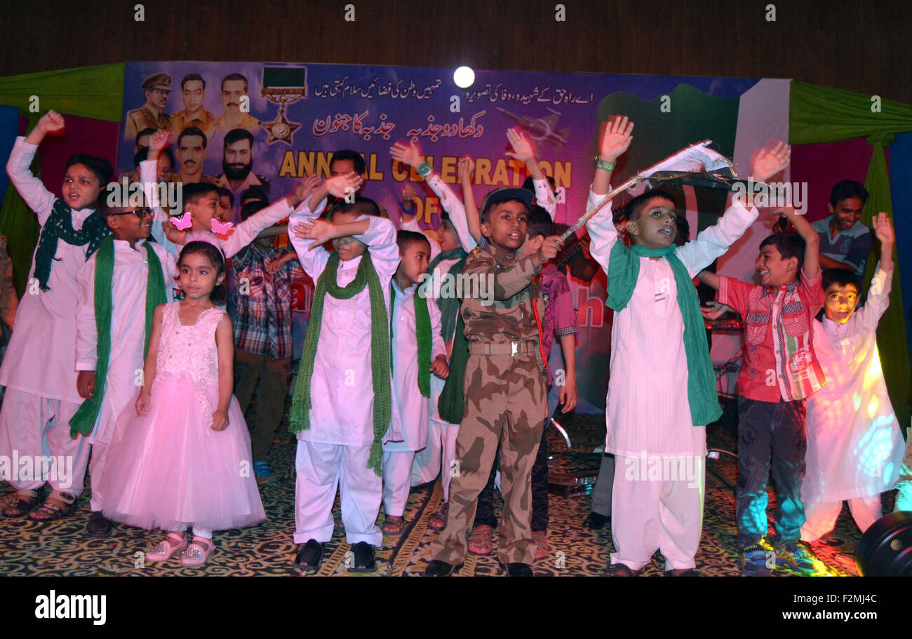 School's students are performing tableau `during the