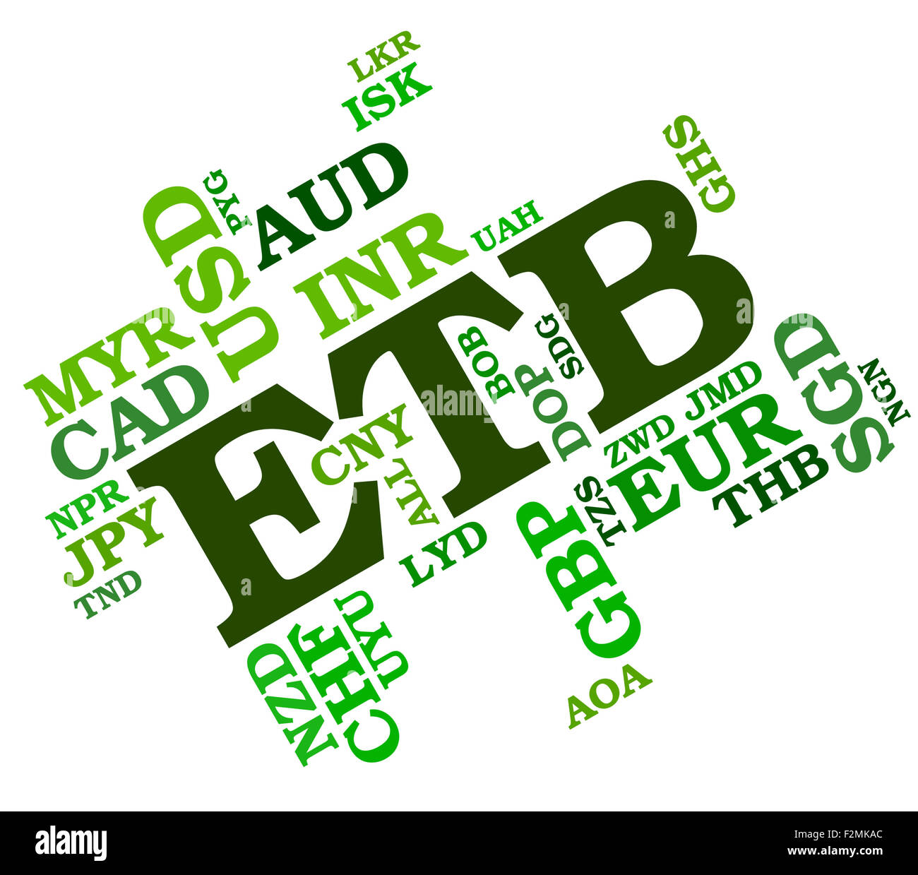Etb Currency Representing Ethiopian Birr And Words Stock Photo