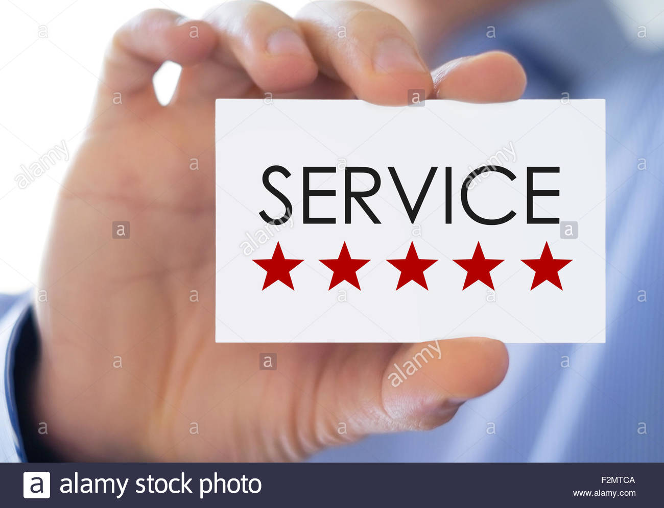 Service - business card - Stock Image