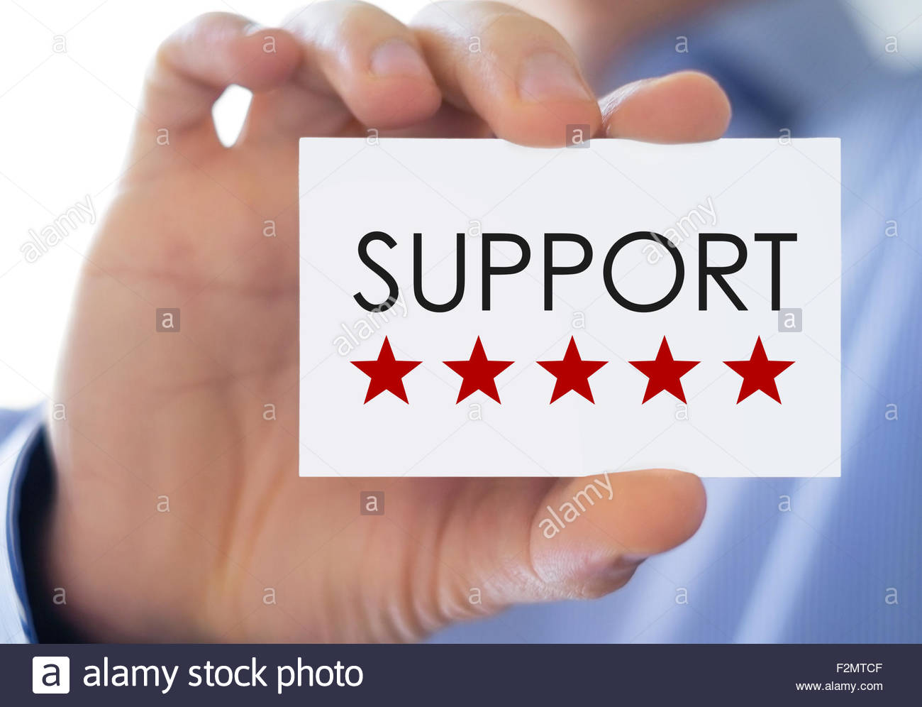 Support - business card - Stock Image