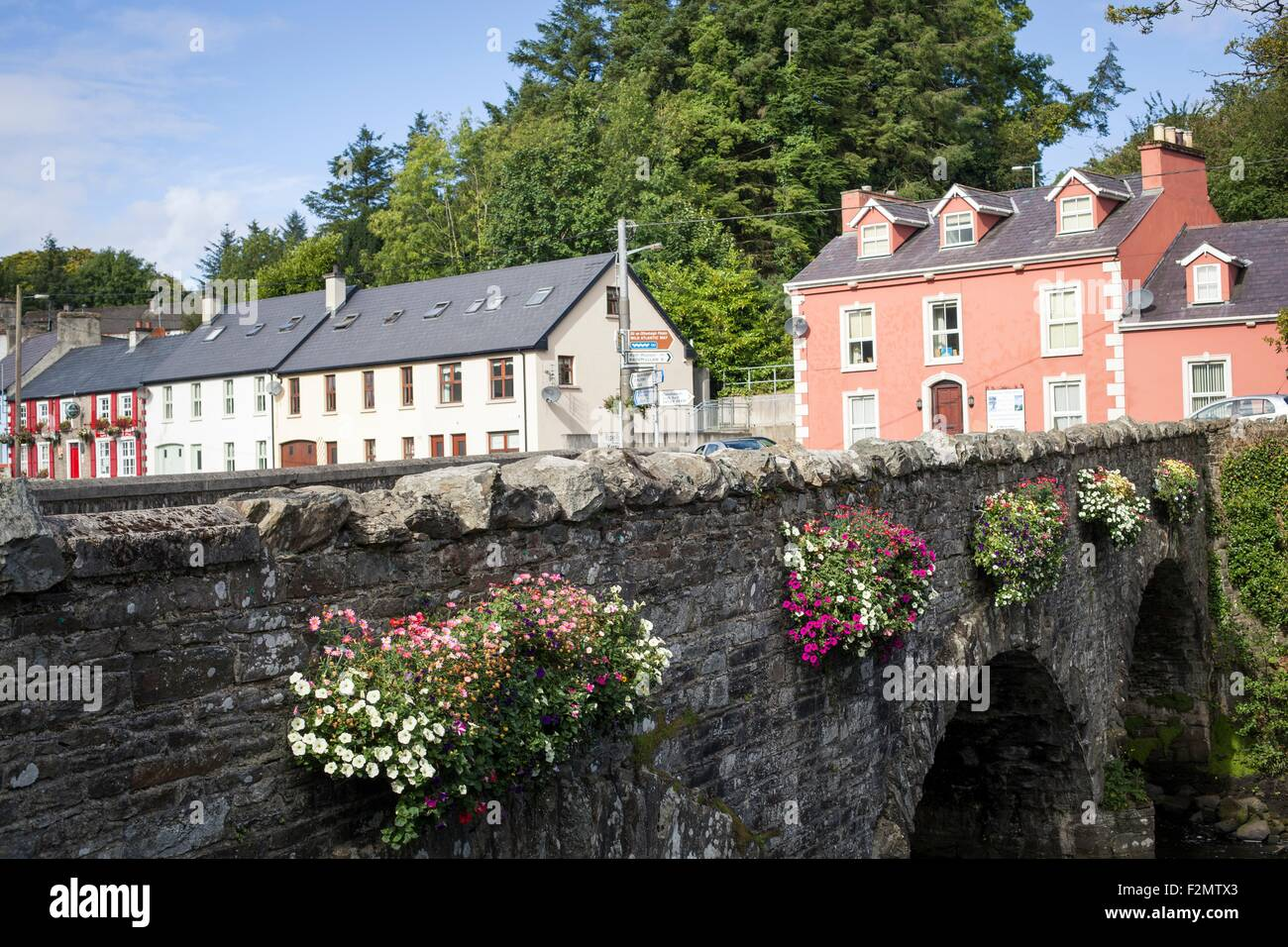 The town of Ramelton in Co. Donegal, Ireland - Stock Image