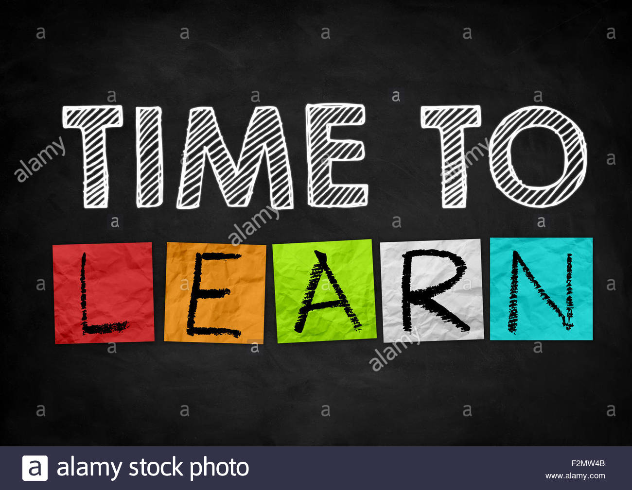 Time to learn - Stock Image