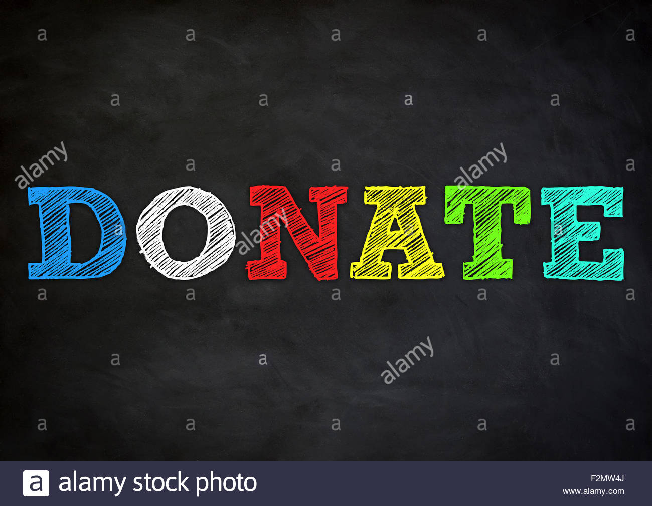 Donate - Stock Image