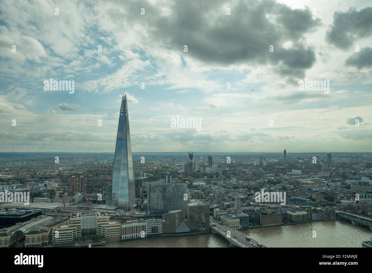A View of the Shard, London. A view of London, A view of London Southbank, Skygarden, Sky Garden, 20 Fenchurch street - Stock Image